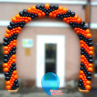 """Арка из шаров """"Кокошник 1"""" (5 метров, на каркасе)"""