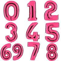 """Шар цифра """"Pink"""" 40 дюймов (с гелием)"""