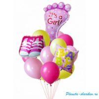 "Композиция из шаров с гелием ""Для девочки"""