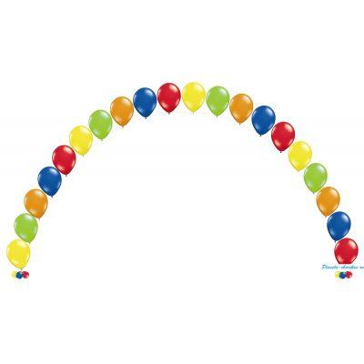 Цепочка разноцветная  6 метров из 25 шаров с гелием