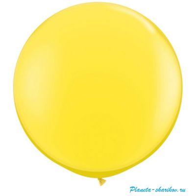"""Большой шар с гелием """"Желтый"""""""
